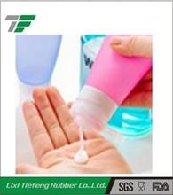 empty personalized silicone travel shampoo bottle
