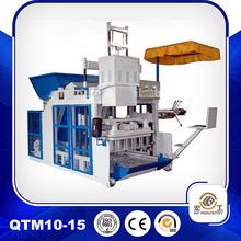 block making machine QTM10-15 mobile block machine cement production line