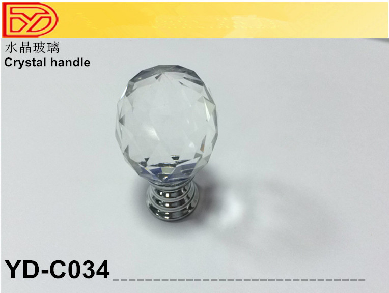 Cristal poign e cristal poign e de porte cristal bouton Bouton cristal meuble cuisine