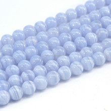 Wholesale 8mm Blue Lace Agate Loose Beads for Jewelry Making