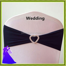 Fashion Luxury Black Chair Cover Band with Lovers Buckle