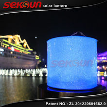 Seksun Best sell Waterproof PVC Multi-function solar power lamp RGB moroccan solar lantern light
