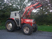 Massey Ferguson 390T 4WD with MF 880 loader