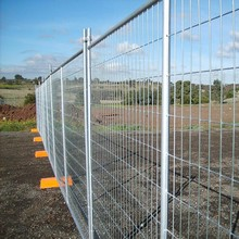 Safety Iron Plastic Feet Galvanized Welded Temporary Fencing