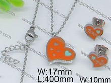 2015 china indian bridal stone jewelry sets wholesale orange color