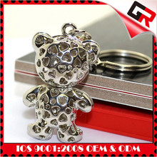 Quality and fashion custom card game metal keychains