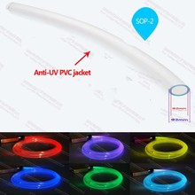 2mm anti-uv plastic side glow fibre optic cable for optical fiber portable pool light