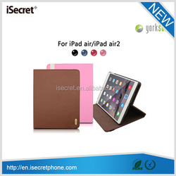 360 degree rotate Universal tablet leather case for iPad air / air 2 with volume amplify function