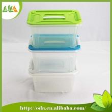 Hot selling new design 100% plastic storage box with lock