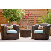 2015 Leisure used outdoor furniture rattan coffee table and chair