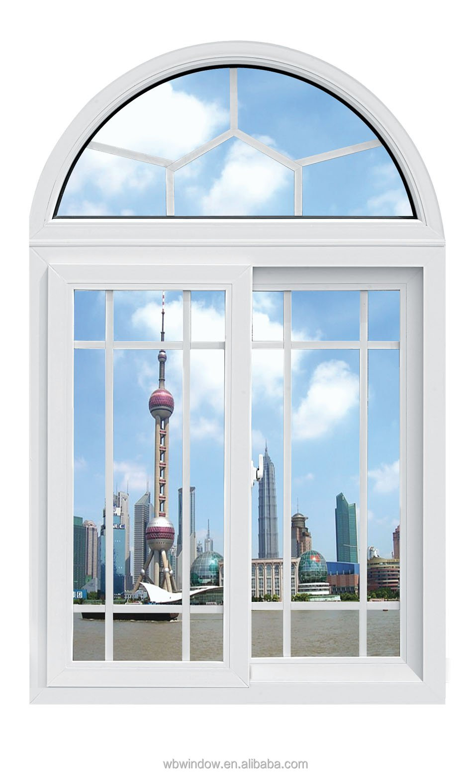 Latest house upvc sliding window arch design horizontal for Upvc window designs