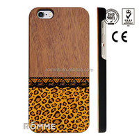China phone case manufacture wholesale high quality latest pattern printed wood back case for iphone 6