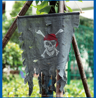 Custom Halloween Ghost Pirate Flag Tricky Toy Hanging Ghost Flag Halloween Decoration Manufacturers Supplies