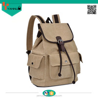 ali baba high quality and hot sale canvas Elegant Woman Backpack in new design