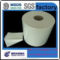 Sanitary raw material of spunlace nonwoven technics customized width for disposable wet tissue/ wet wipes/cleaning cloth