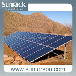 ground screw solar panel mounting system for solar energy system installation