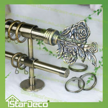 Z168 metal painted whosales decorative curtain rod curtain rod rings