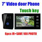"""7 """" Monitor de vídeo sem fio porta telefone campainha sistema Intercom com Key Touch câmera de visão noturna"""