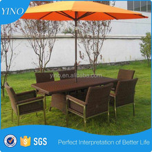 Resina de mimbre muebles de exterior de aluminio silla RZ1209