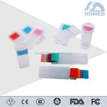 CE Marked Super Clear Colorful Frosted One End Microscope Slides