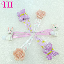 baby girl hair accessories 2015 handmade resin glitter butterfly cat shape korean hair clip