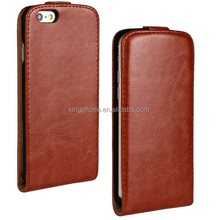 new product for 2015 crazy horse grain PU leather flip cell phone case for iphone 6