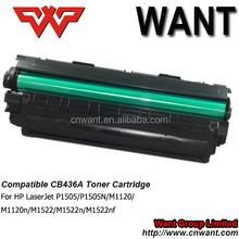 Compatible C436a Toner Cartridges for HP LaserJet P1505/P1505N/M1120/M1120n/M1522/M1522n/M1522nf