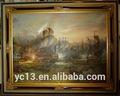 guangzhou fabricante directamente la oferta de puro hecho a mano paisaje pintura al óleo