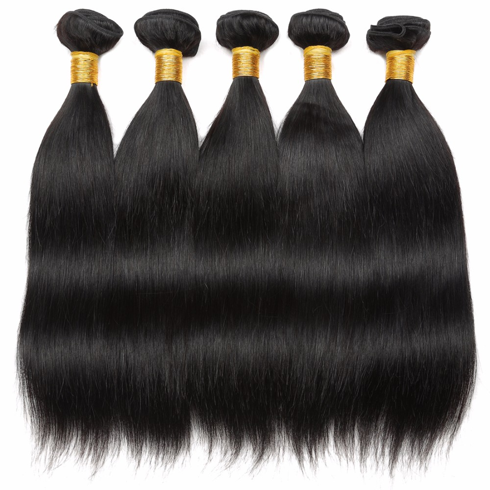 Peruvian Silk Straight Virgin Human Hair with 13*4 lace frontal