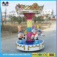 Cheap and high quality children indoor games playground theme park Kiddie Rides Mini Electric Carousel Kids Carousel