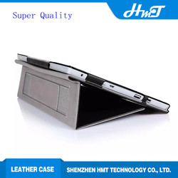Super quality folio leather case for Microsoft surface pro 3 10.8 with stylus holder and card slots hand strap