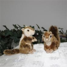 Top quality Cute design realistic made car decoration plush animal toy plush squirrel