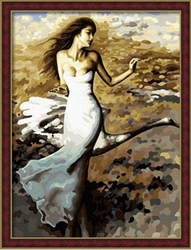 60*80cm factory price modern woman paintings by number
