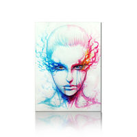 Abstract Woman Face Painting On Canvas