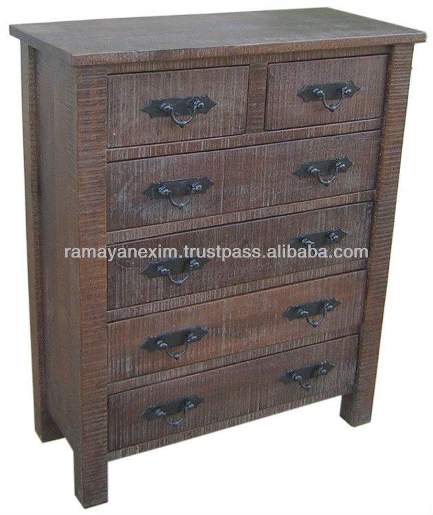 Wooden Drawer Chest Mango Wood Furniture