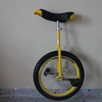 24 inch outdoor bicycle with one wheel Single wheel bicycle Double Alloy rim CE certificate Yellow color
