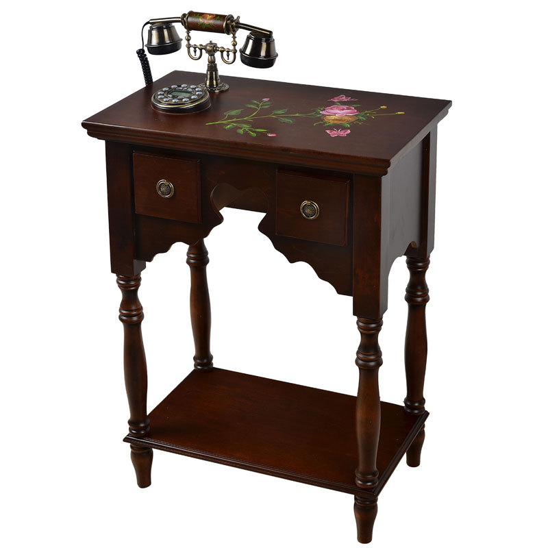 Solid wood antique telephone tables