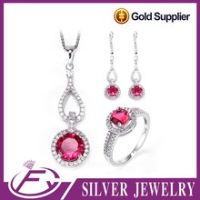 Indian bridal style cz stone 925 sterling silver full set jewellery