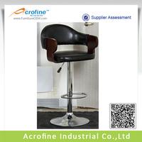 PVC Leather Bent Wood Bar Chair