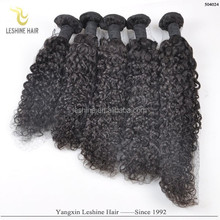 Promotion 100% Virgin Human Hair Double Weft Can Be Dyed No Tangle No Shedding curly hair drawstring ponytail