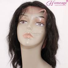 Homeage in stock cheap human hair wigs virgin brazilian grey curly hair wigs
