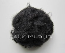 polyester recycled fiber black
