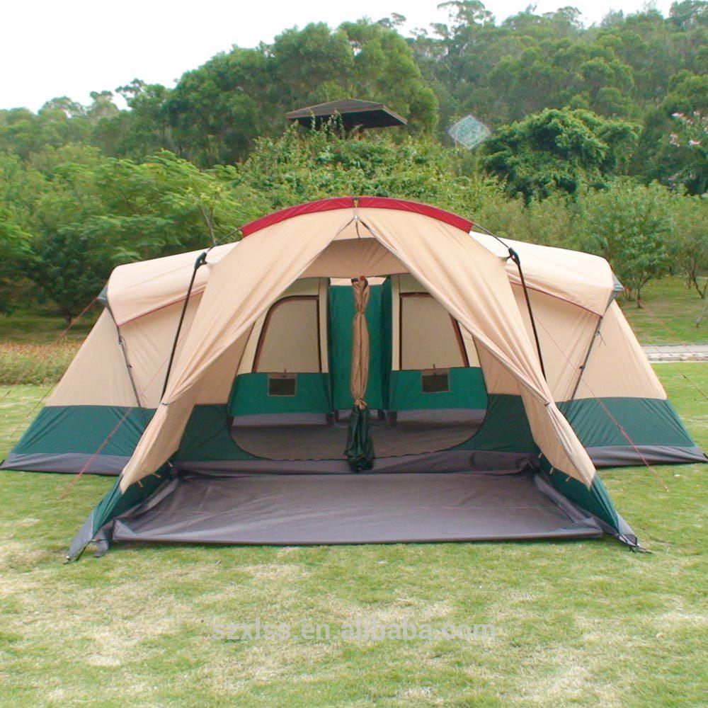 Personnes 6 3 chambre camping safari de luxe tente pour for Tente de camping 3 chambres