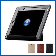 C&T Black Hand Holder Leather Folio cover Wallet Design Flip Case for iPad Air 2