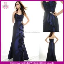 SD1760 satin floor length cheap evening dress 2015 blue bridesmaid dresses