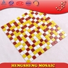 LS52 Hot sale red and yellow passion style kitchen backboard wall tile decoration mosaic