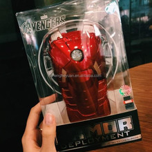 3d iron man Led Flash Light Plastic Hard Amor Phone Case Cover For iphone 6