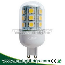 2015 unique design 4w 5050SMD led lights high lumen led G9 bulb ,energy saving led g9 bulb replacement 30w halogen