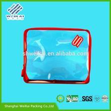 hot pressing plastic bikini bag, transparent PVC custom made apparel bag, PVC clothes box SHWK1831