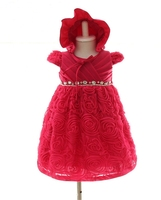 For 3-12 Month Old Little Kids Evening Dress Baby Girl Party Dress Children Frocks Designs
